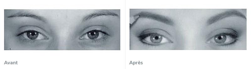 Maquillage permanent sourcils avant après 1